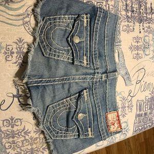 True religion Joey cut off shorts